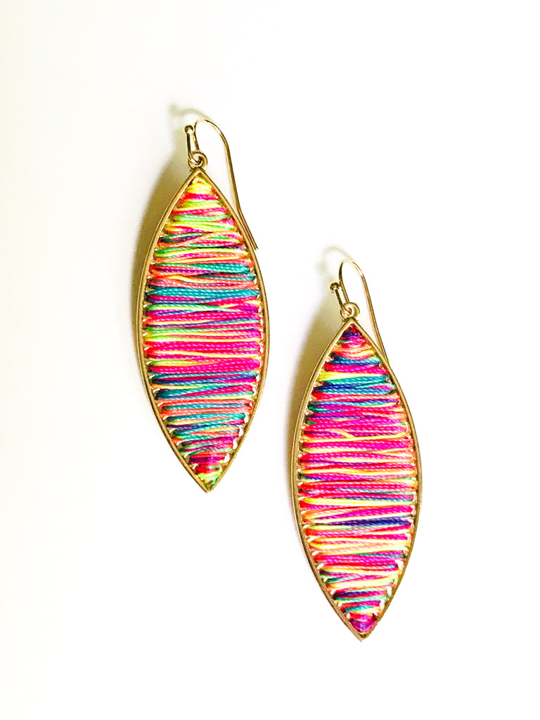Wrapped Neon Dangles | Pink Blue Yellow Fashion Earrings | Light Years