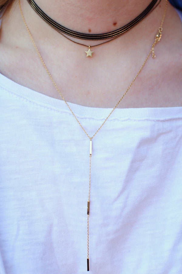 3 Bar Y-Necklace, $12 | Gold Plated | Light Years Jewelry