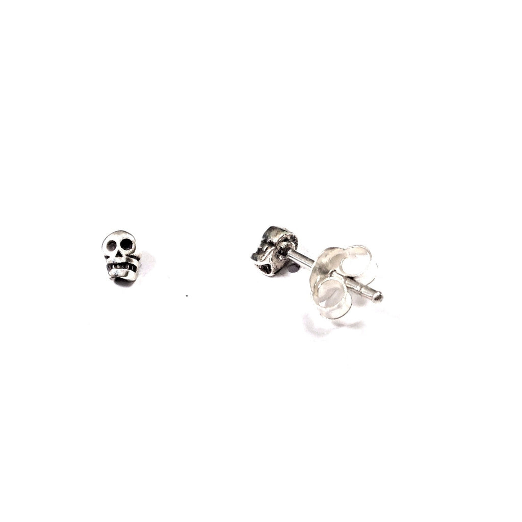 Skull Post Earrings | Sterling Silver Studs | Light Years Jewelry