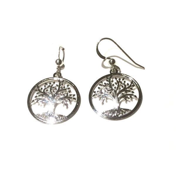 Sterling Silver Tree of Life Earrings | Sterling Silver | Light Years
