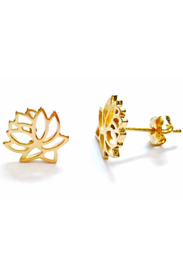Open Lotus Filigree Posts | Gold Vermeil Stud Earrings | Light Years Jewelry