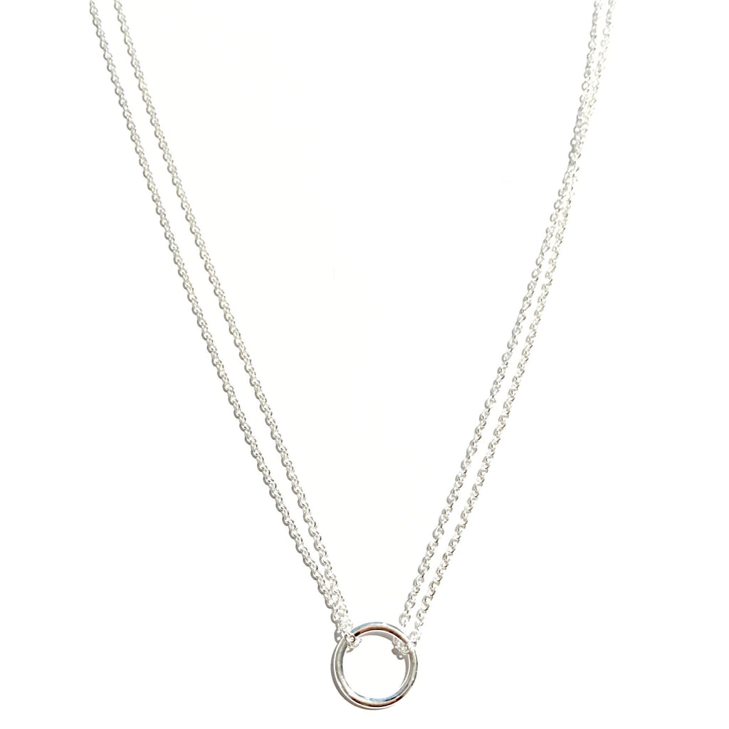 Open Circle on a Double Chain Necklace, $18 | Sterling Silver | Light Years Jewelry