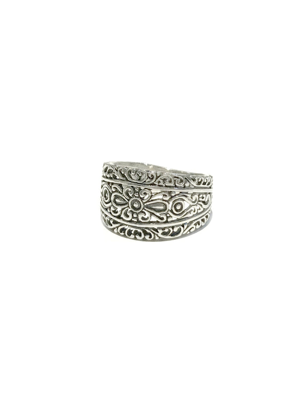 Classic Bali Band Ring | Filigree Sterling Silver Handmade | Light Years