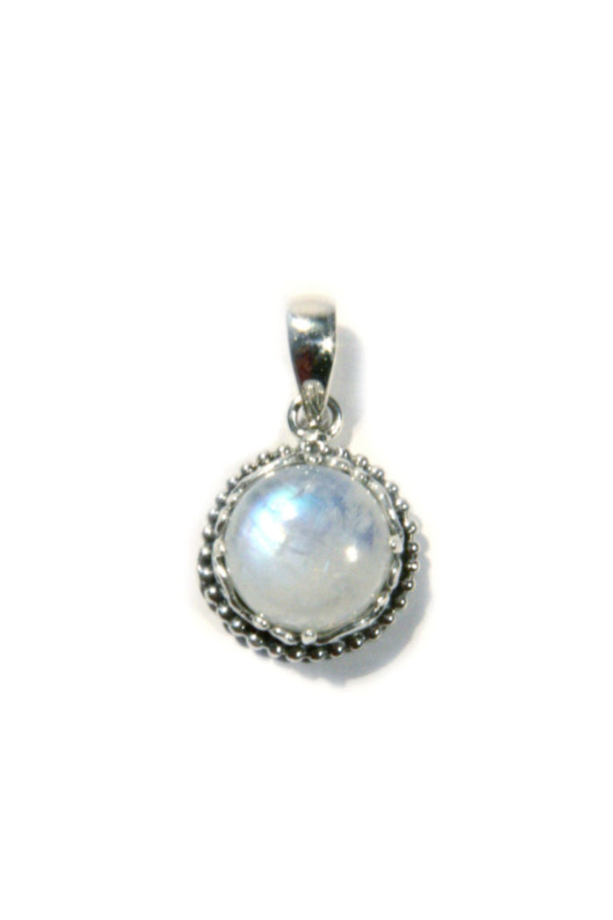 Detailed Moonstone Pendant, $27 | Sterling Silver | Light Years Jewelry