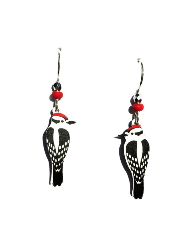 Downy Woodpecker Earrings by Sienna Sky | Sterling Silver | Light Years
