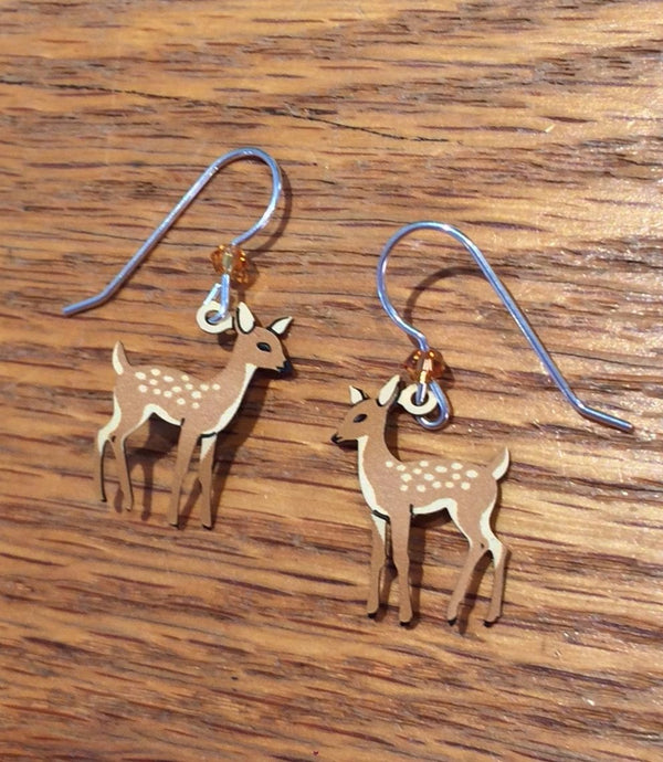 Young Fawn Dangle Earrings by Sienna Sky, $15 | Light Years Jewelry