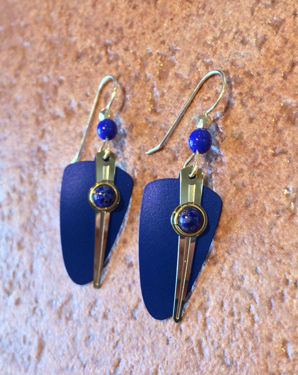 Blue Shield Dangles by Adajio, $18 | Sterling Silver | Light Years