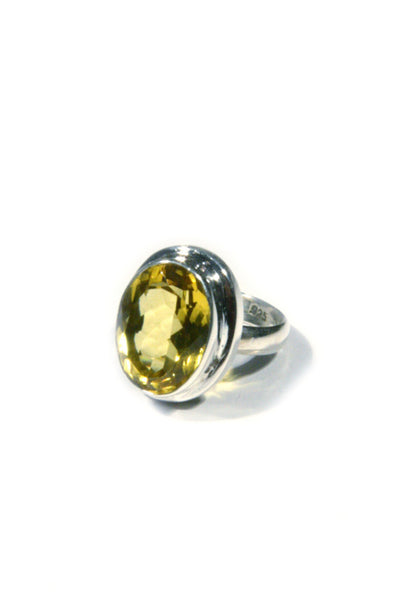 Faceted Citrine Ring, $27 | Sterling Silver | Light Years Jewelry