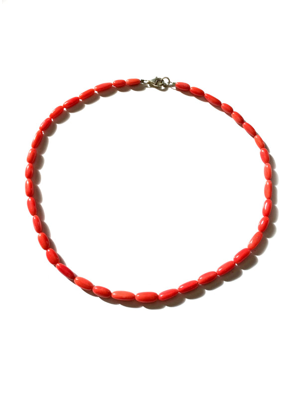 Beaded Red Coral Necklace | USA Handmade Choker | Light Years Jewelry