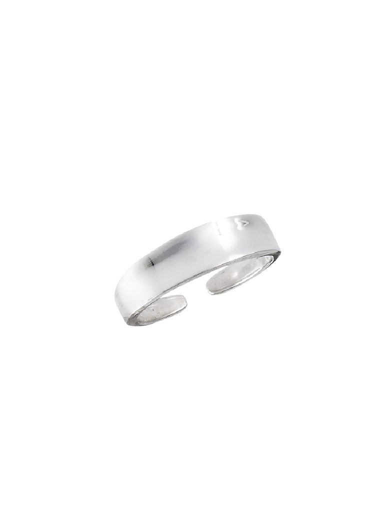 Concave Band Adjustable Toe Ring | Sterling Silver | Light Years Jewelry