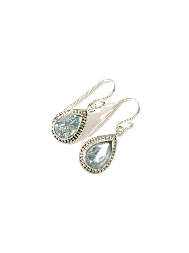 Detailed Gemstone Teardrop Dangles | Sterling Silver | Light Years