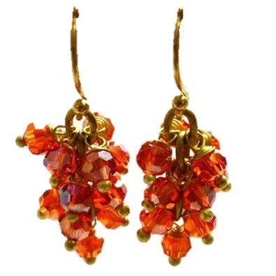 Red Crystal Cluster Earrings, $12 | Light Years Jewelry