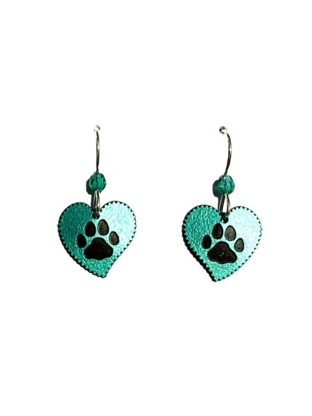 Dog Paw Print Hearts by Sienna Sky | Sterling Silver USA | Light Years