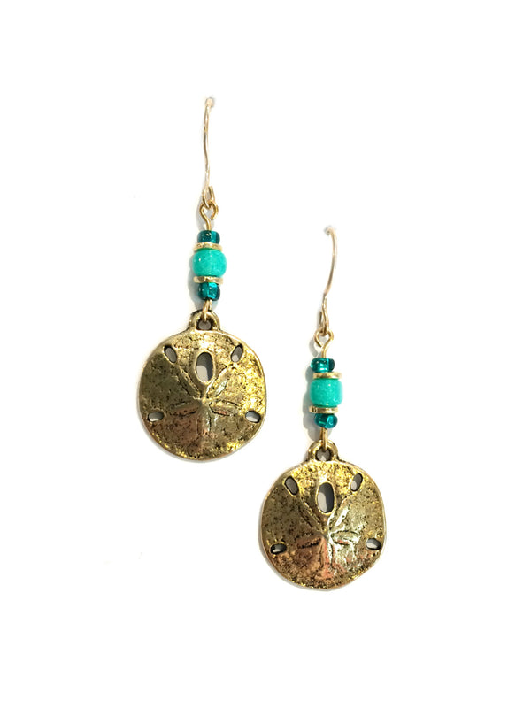 Sand Dollar Earrings by Sienna Sky | 14ky Gold Filled | Light Years