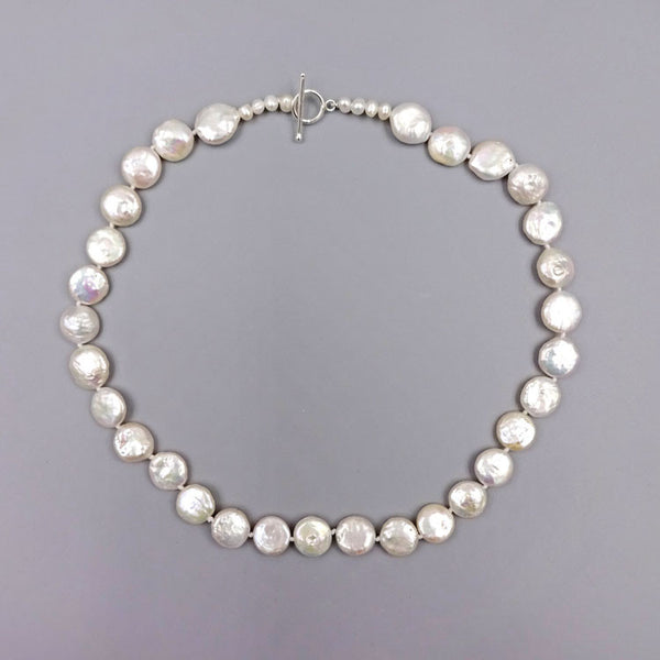 Coin Pearl Necklace, $34 | Sterling Silver | Light Years Jewelry