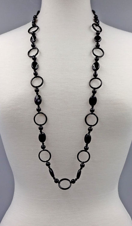 Long Onyx Ring Necklace, $34 | Sterling Silver | Light Years Jewelry