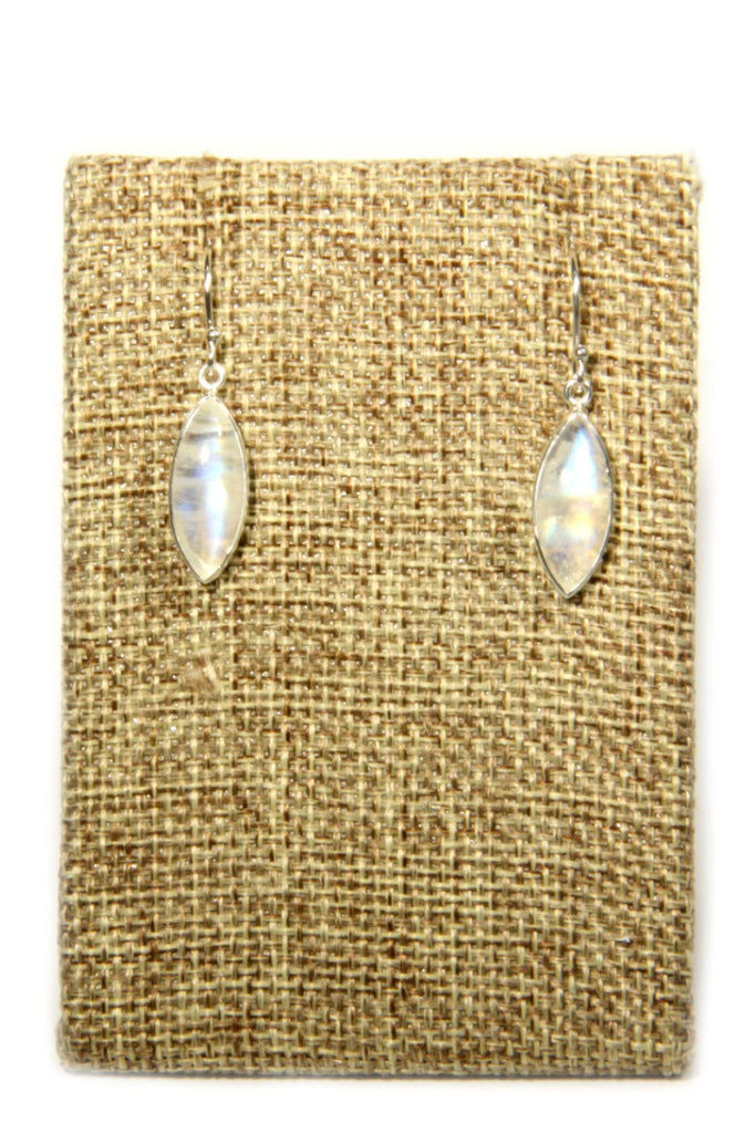 Marquis Moonstone Dangles, $24 | Sterling Silver | Light Years Jewelry