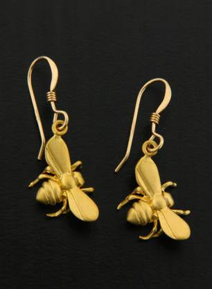 Golden Bumblebee Earrings, $18 | Gold Filled Dangles | Light Years