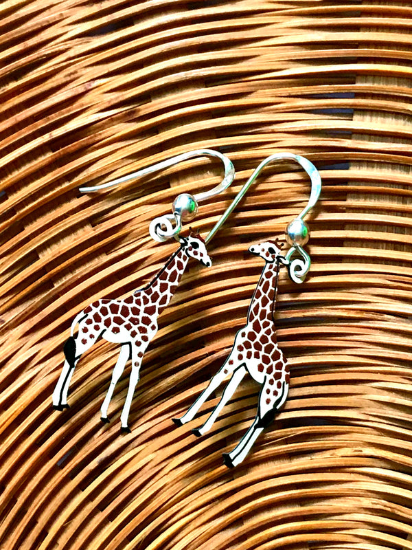 Giraffe Dangles by Sienna Sky | Sterling Silver Earrings | Light Years