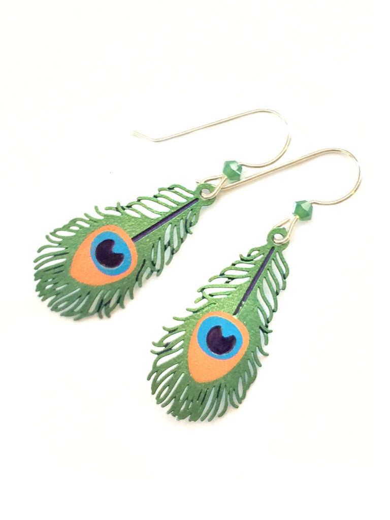 Peacock Feather Dangles by Sienna Sky | Sterling Silver | Light Years