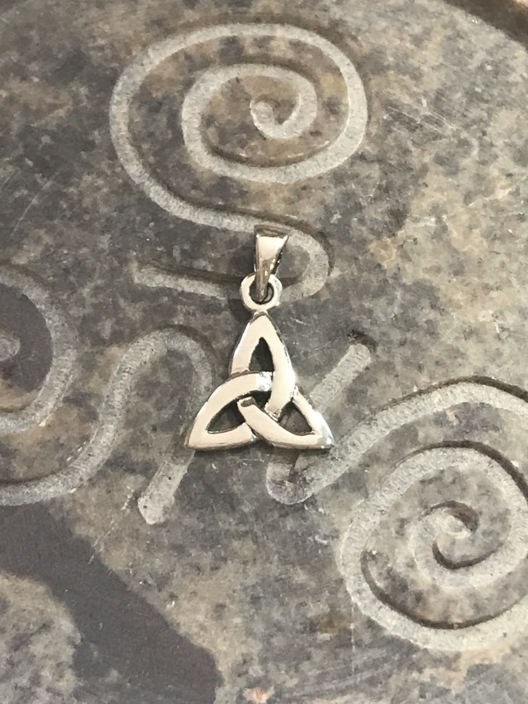 Celtic Triquetra Pendant | Sterling Silver Chain Charm | Light Years