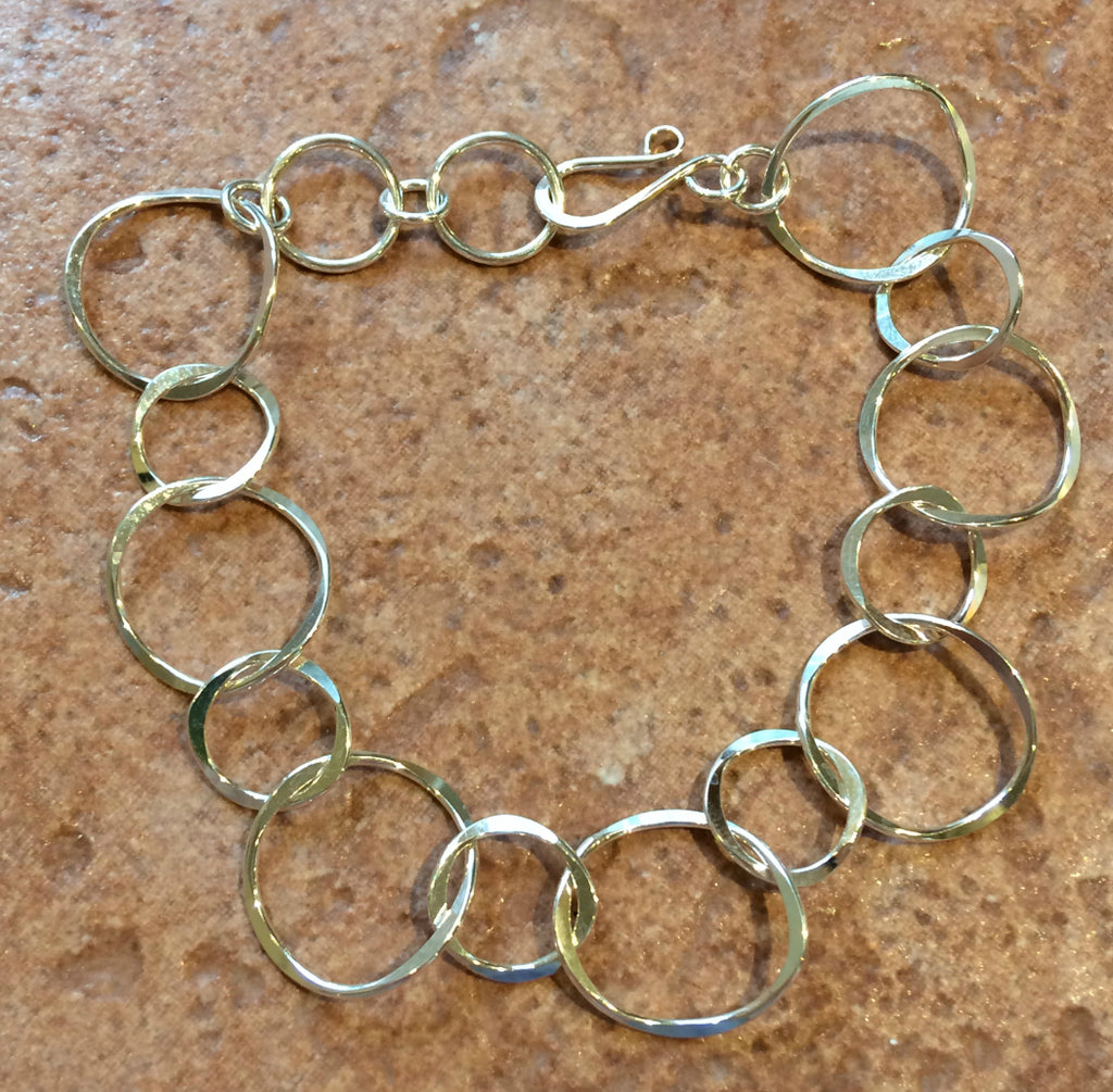 Linked Circle Bracelet, $34-36 | Sterling Silver Gold Fill | Light Years