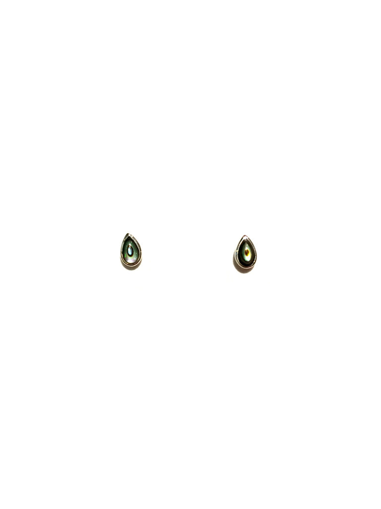 Small Stone Teardrop Posts | Sterling Silver Stud Earrings | Light Years