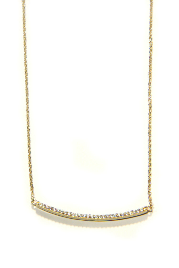 CZ Bar Necklace, $25 | Gold Vermeil or Sterling Silver | Light Years