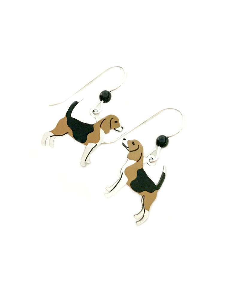 Beagle Dangles by Sienna Sky | Sterling Silver Earrings | Light Years