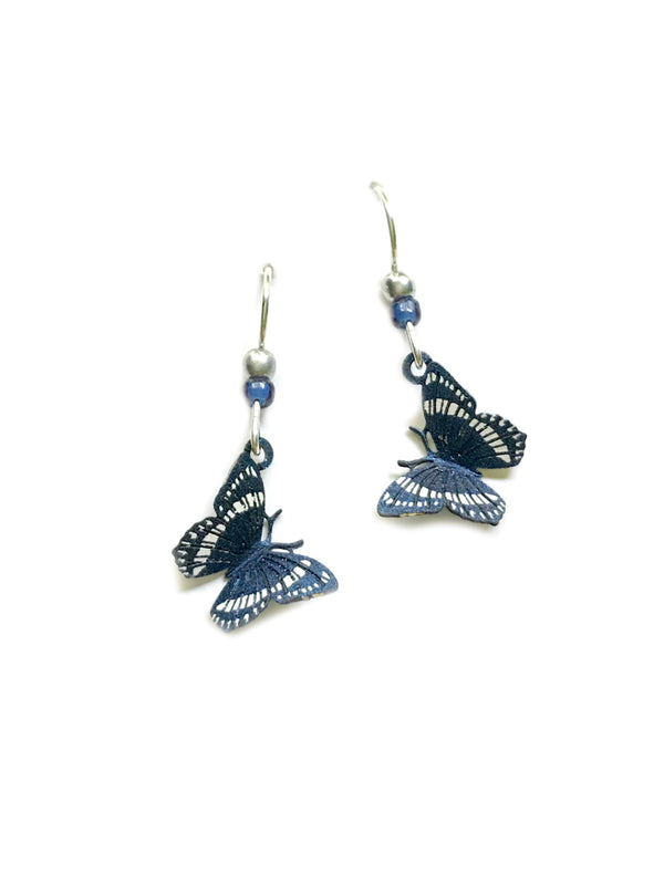 Navy White Butterfly Dangles Sienna Sky | Sterling Silver | Light Years