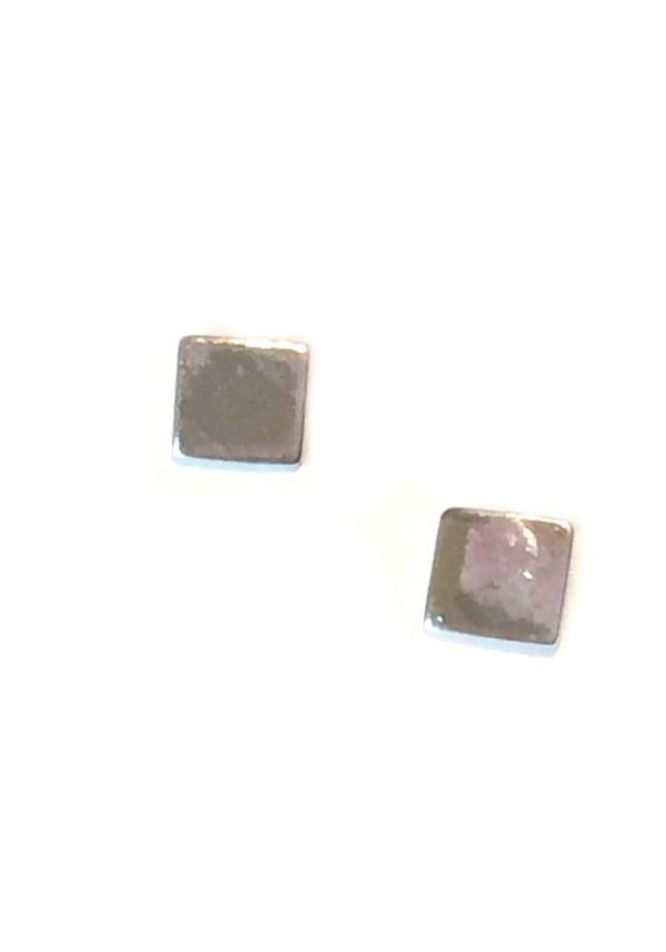 Flat Square Posts, $10 | Sterling SIlver Rose Gold | Light Years Jewelry