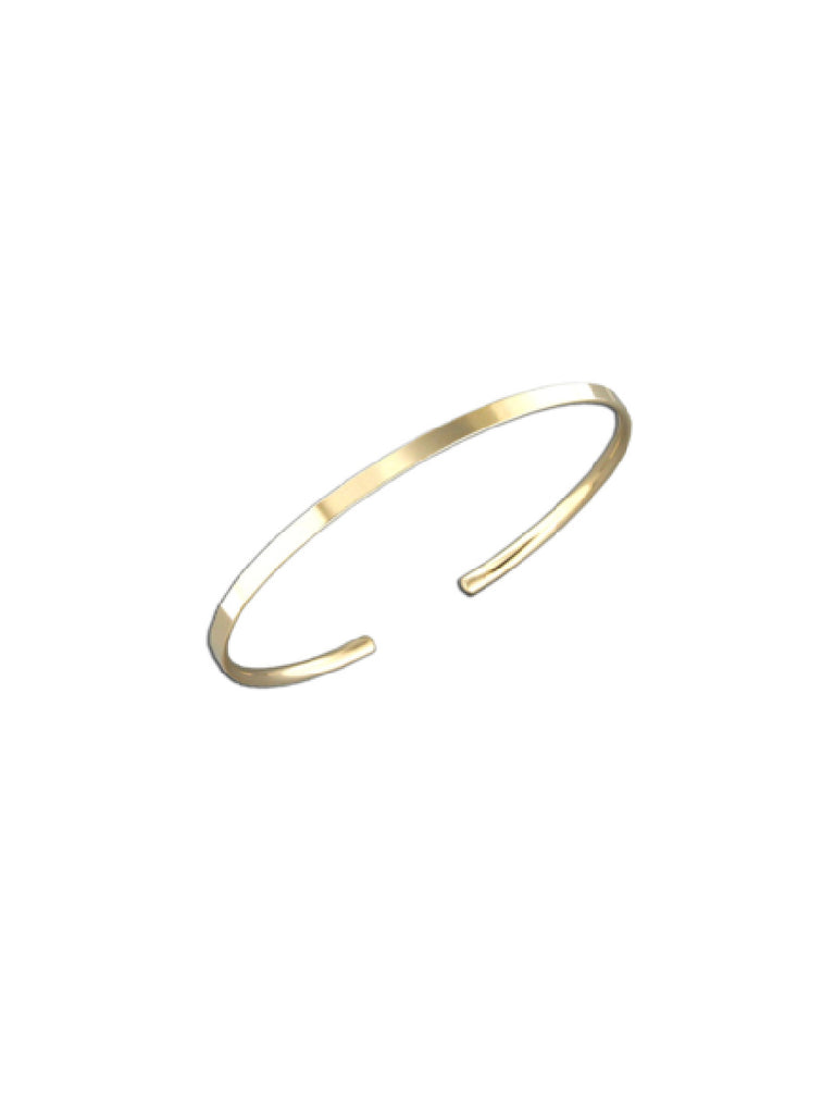 Classic Flat Cuff Bracelet | Gold Filled Sterling Silver | Light Years