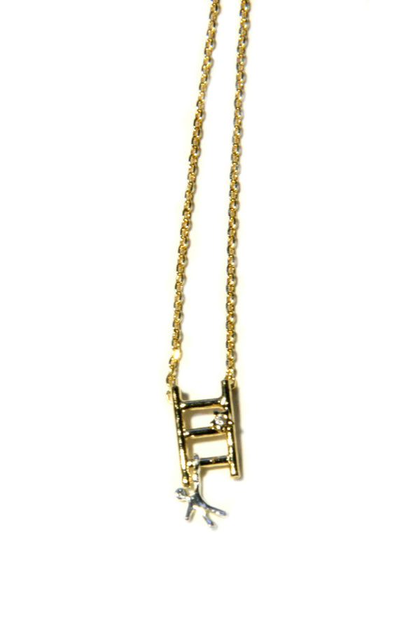 Mixed Metal Ladder Necklace