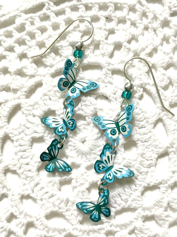 Triple Turquoise Butterfly Dangles Sienna Sky | Earrings | Light Years