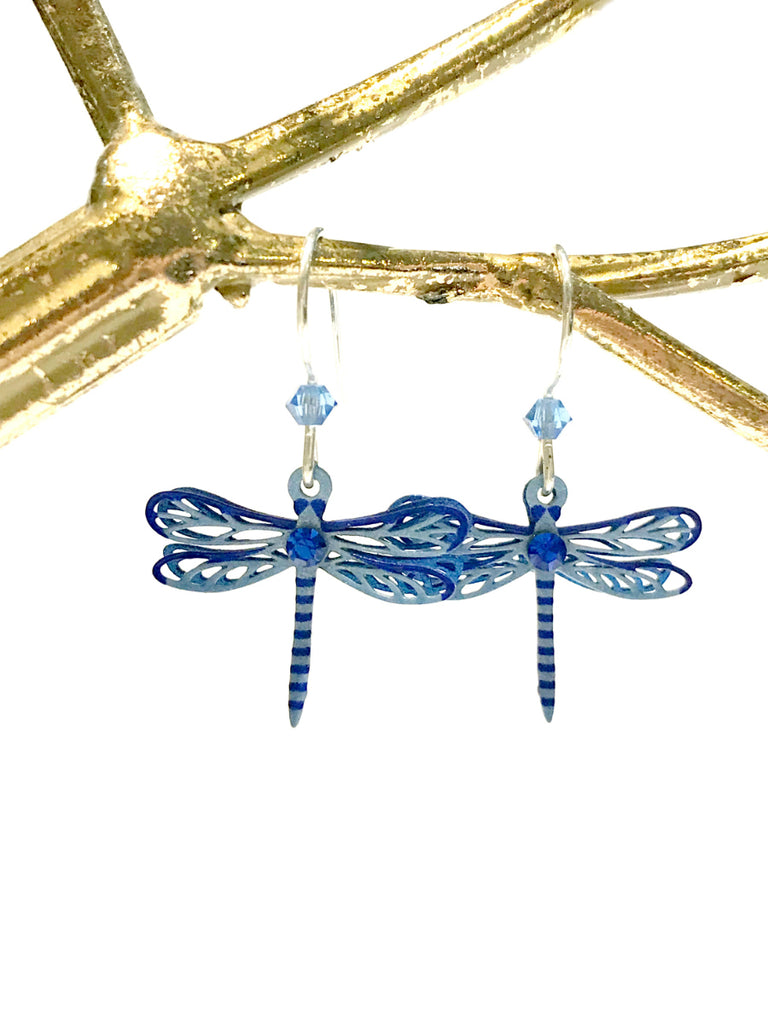Sapphire Dragonfly Earrings Sienna Sky | Sterling Silver | Light Years