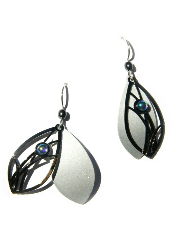 2-piece Iridescent Dangles by Adajio, $20 | Handmade | Light Years