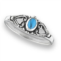 Turquoise and Hearts Ring, $12 | Sterling Silver | Light Years Jewelry