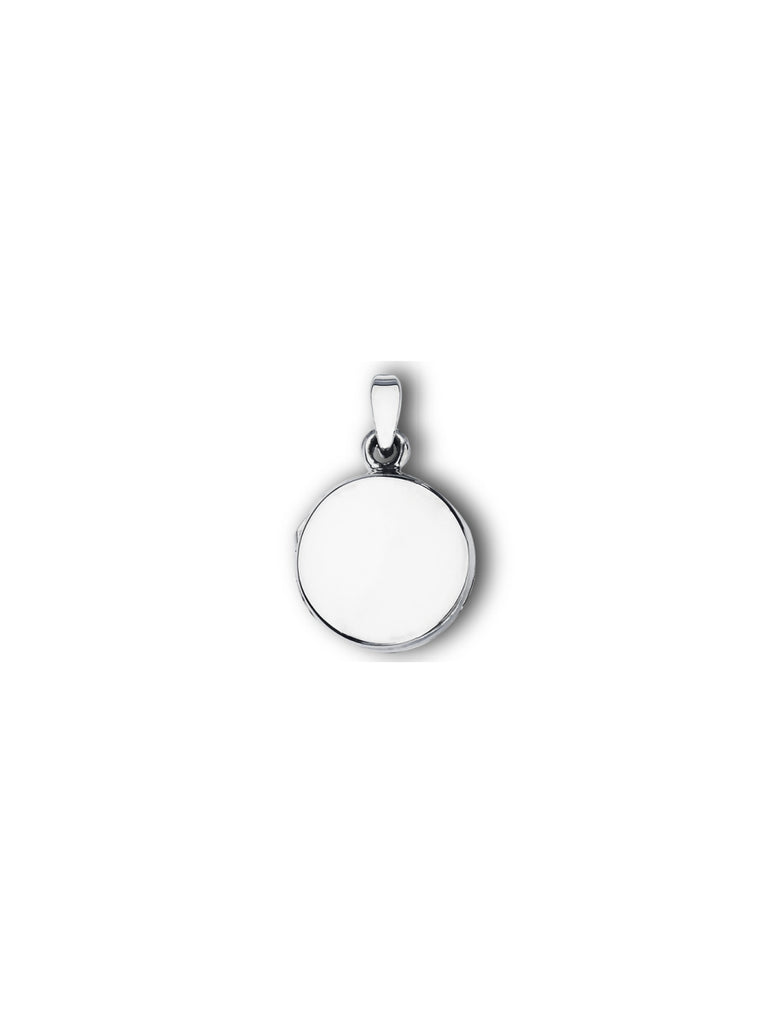 Small Round Locket Necklace | Sterling Silver Chain | Light Years