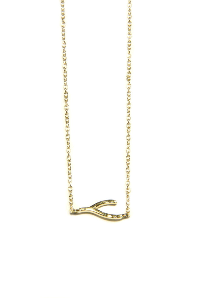 Wishbone Necklace, $17 | Gold Vermeil | Light Years Jewelry