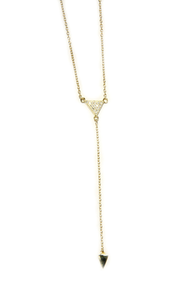 Triangle Y-necklace | Sterling Silver or Gold Vermeil | Light Years