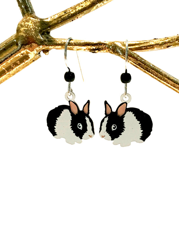 Fluffy Bunny Dangles Sienna Sky | Sterling Silver Earrings | Light Years