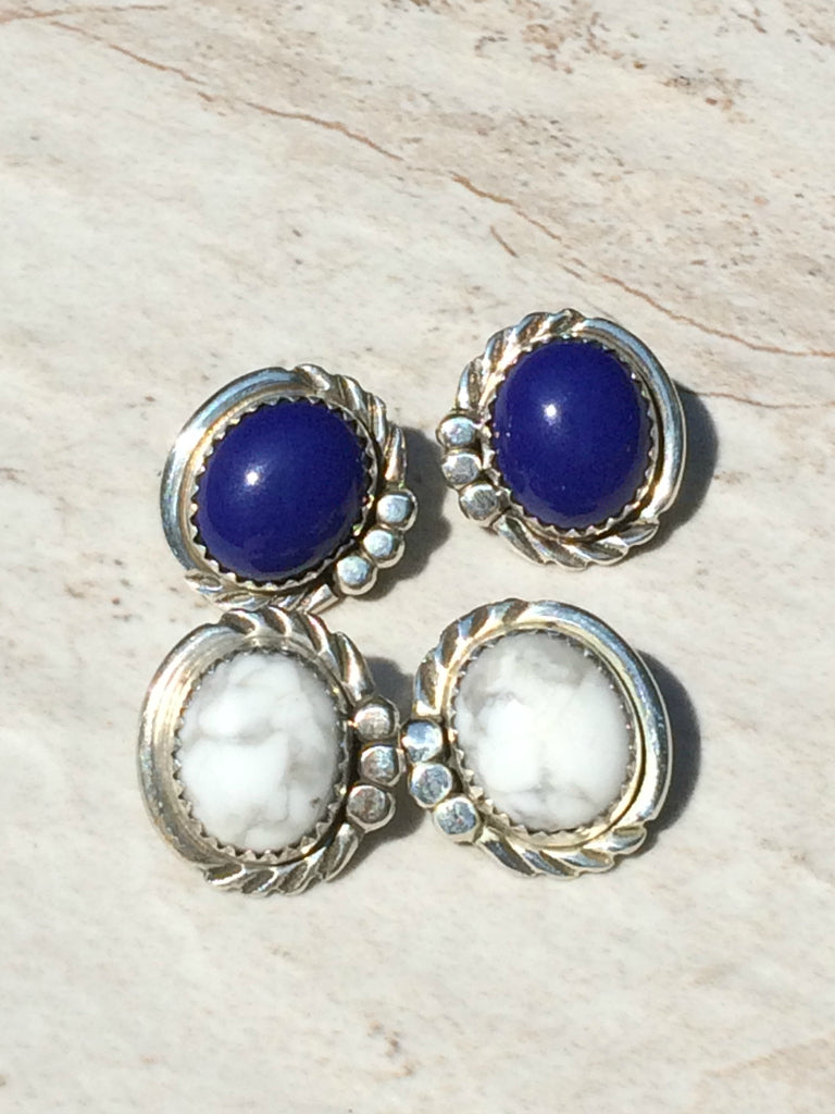 Handmade Navajo Posts | Sterling Silver Lapis Howlite | Light Years