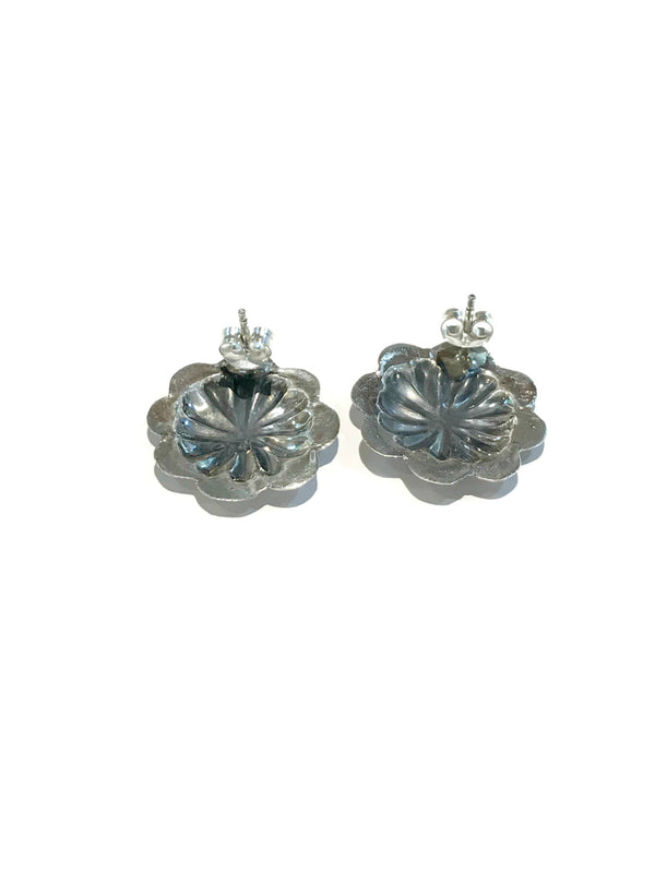 Navajo Concho Posts | Sterling Silver Studs Earrings | Light Years