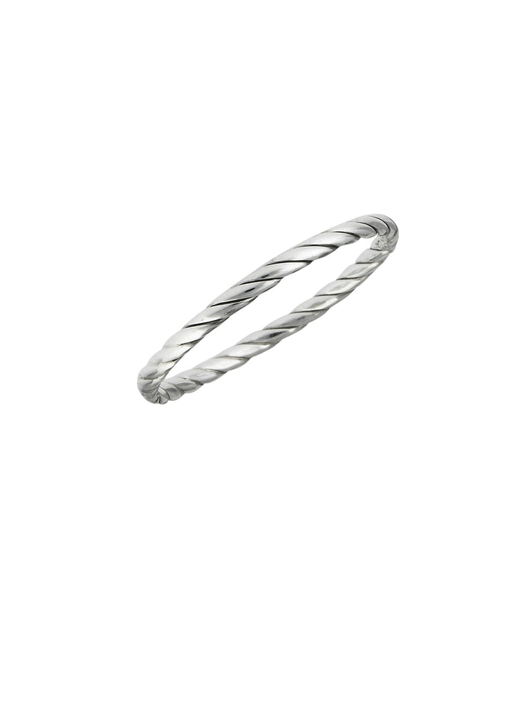 Twisted Band | Sterling Silver Ring Sizes 2 3 4 5 6 7 8 | Light Years