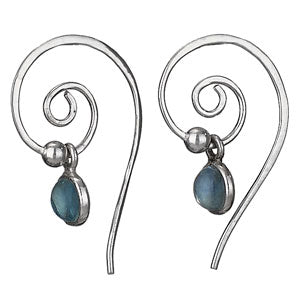 Apatite Swirl Earrings, $19 | Sterling Silver Stone | Light Years Jewelry