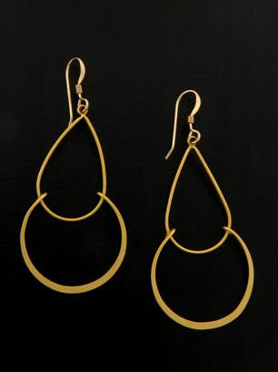 Matte Gold Chandelier Earrings | Gold Filled Dangles | Light Years