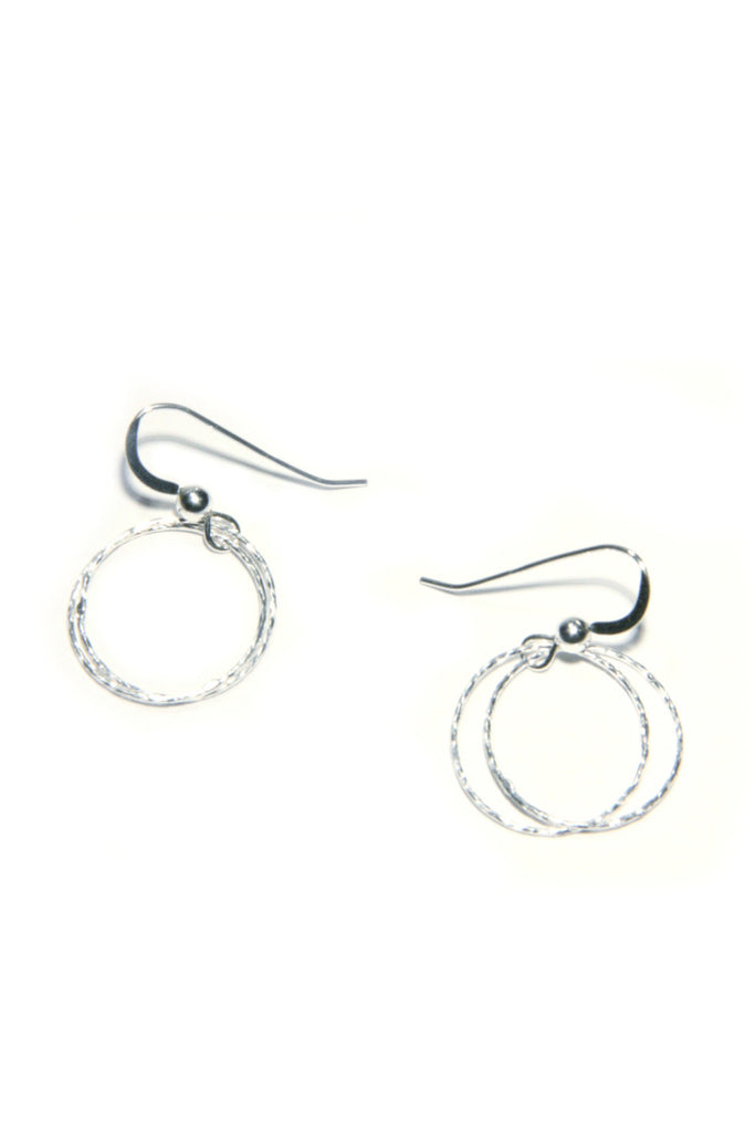 Sterling Silver Delicate Circle Dangles, $18 | Light Years Jewelry