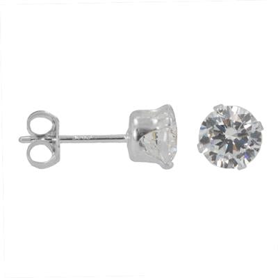 Round Cut CZ Posts | Cubic Zirconia Stud Earrings | Light Years