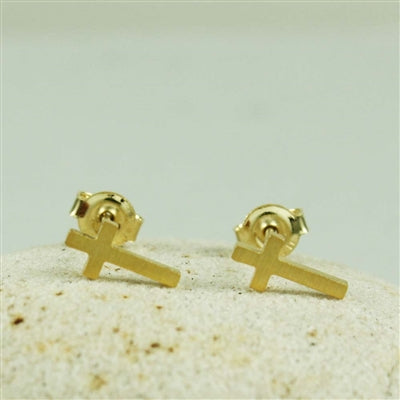 Gold Cross Posts | Vermeil Stud Earrings | Light Years Jewelry