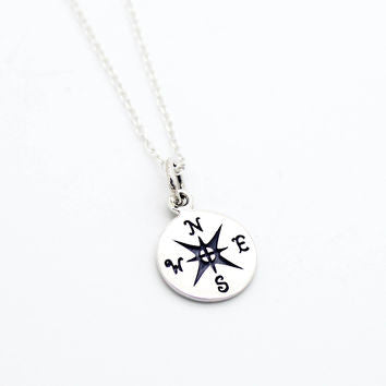 Compass Necklace, $26 | Sterling Silver | Light Years Jewelry
